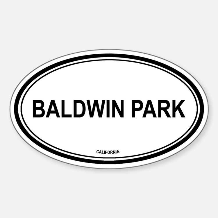 Baldwin Park (California) Oval Decal