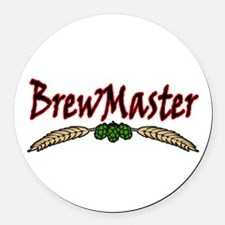 BrewMaster2.png Round Car Magnet