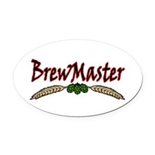 BrewMaster2.png Oval Car Magnet