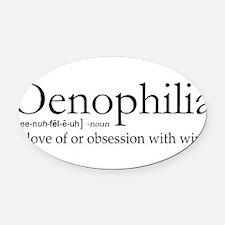 Oenophilia Oval Car Magnet
