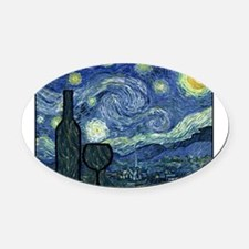 WineyNight.png Oval Car Magnet