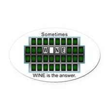 Unique Love is the answer Oval Car Magnet