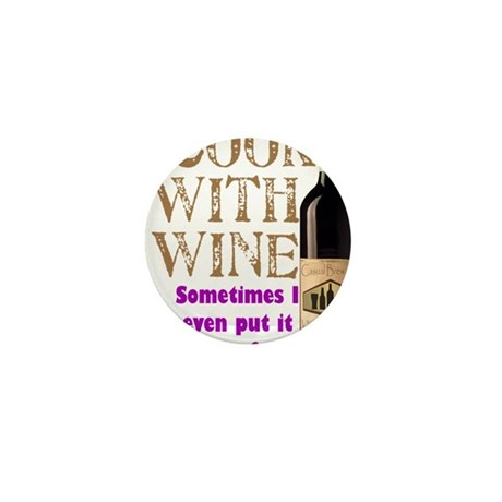 ICookWithWine.PNG Mini Button (10 pack)
