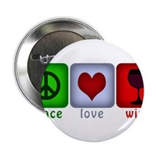 "PeaceLoveWine.png 2.25"" Button (10 pack)"