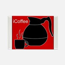 iCoffee Red Rectangle Magnet