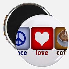 PeaceLoveCoffee-Sideways.PNG Magnet