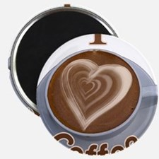 """ILoveCoffeeCup.PNG 2.25"""" Magnet (10 pack)"""