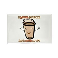 Cute Morning brew Rectangle Magnet