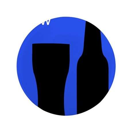 """iBrewBlue.png 3.5"""" Button (100 pack)"""