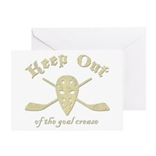 Hockey Goal Crease Greeting Card