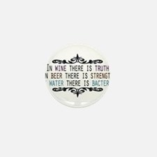 WineTruthBeerStrength.png Mini Button (10 pack)