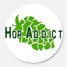 HopAddictCP.png Round Car Magnet