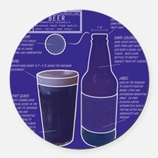 BeerBluePrint.png Round Car Magnet