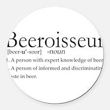 BeeroisseurDark.png Round Car Magnet