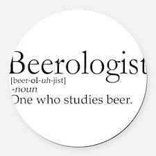 BeerologistDark.png Round Car Magnet