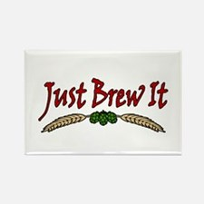 JustBrewIt-White Rectangle Magnet