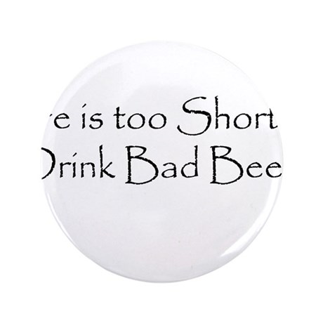 "TooShortCPBlack.png 3.5"" Button (100 pack)"