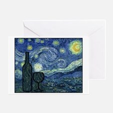 WineyNight.png Greeting Card
