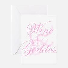 WineGoddessGlitter.png Greeting Card