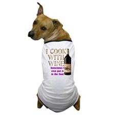 ICookWithWine.PNG Dog T-Shirt