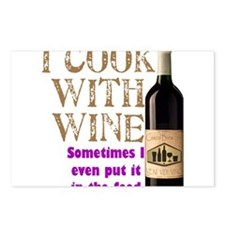 ICookWithWine.PNG Postcards (Package of 8)