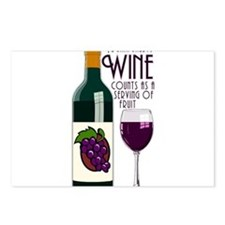 WineFruitServing.png Postcards (Package of 8)
