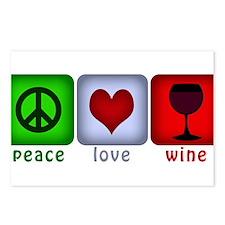 PeaceLoveWine.png Postcards (Package of 8)