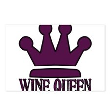 3-WineQueen.PNG Postcards (Package of 8)