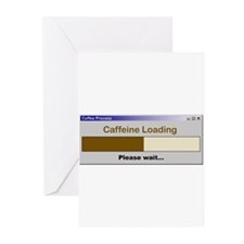 CaffeineLoading.PNG Greeting Cards (Pk of 10)