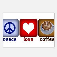 PeaceLoveCoffee-Sideways.PNG Postcards (Package of