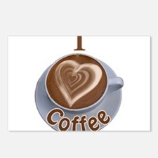 ILoveCoffeeCup.PNG Postcards (Package of 8)