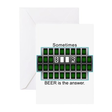 2-BeerAnswer Greeting Cards