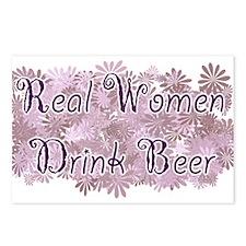 RealWomenBeer.png Postcards (Package of 8)