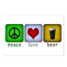 PeaceLoveBeer.png Postcards (Package of 8)