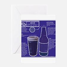 BeerBluePrint.png Greeting Card