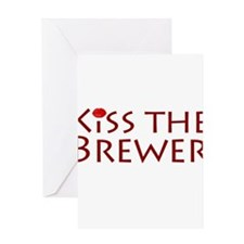 KissTheBrewer.png Greeting Card