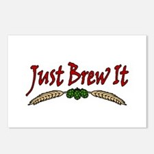 JustBrewIt-White Postcards (Package of 8)