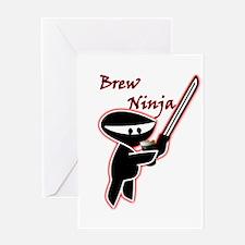 BrewNinjaV2.PNG Greeting Card