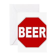 BeerStopSign.png Greeting Card