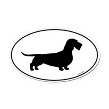 Wirehaired Dachshund Oval Car Magnet