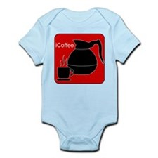 iCoffee Red Infant Bodysuit