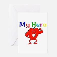 My Hero Greeting Card