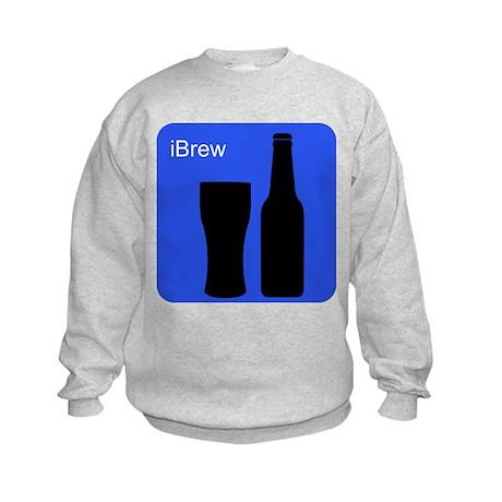 iBrewBlue.png Kids Sweatshirt