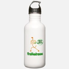 Yoga Dog Warrior Pose Water Bottle