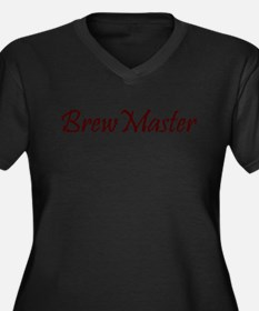 BrewMasterFilledBrown.png Women's Plus Size V-Neck