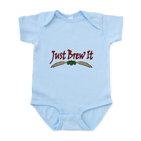 JustBrewIt-White Infant Bodysuit