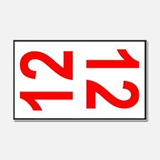 12 Autocross Number Plates Car Magnet 20 x 12
