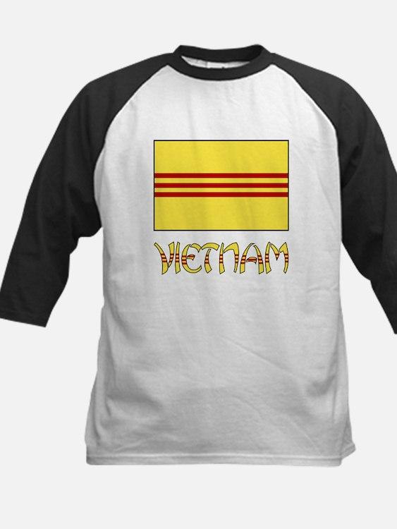 S. Vietnam Flag & Name Black Tee