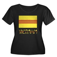 S. Vietnam Flag & Name Black T
