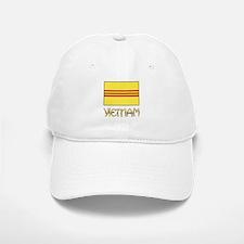 S. Vietnam Flag & Name Black Baseball Baseball Cap